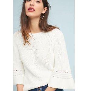 Anthropologie ROSIE Neira cream sweater